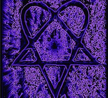 Violet Thoughts Heartagram by J. Lovewell
