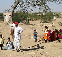 Living in the Rajasthan Desert - India by Bev Pascoe