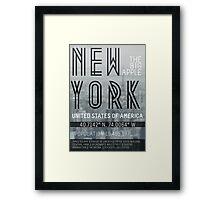 Metropolis New York Framed Print