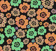 japanese blossoms pattern by offpeaktraveler