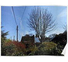 A Thatched Cottage on a Sunny Spring Day Poster