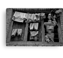 Brothers in the Window Canvas Print