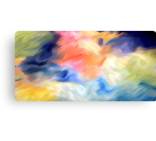 Splashes of Paint Oil Painting 3 Canvas Print