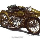 1924 Indian Scout Motorbike by mrclassic