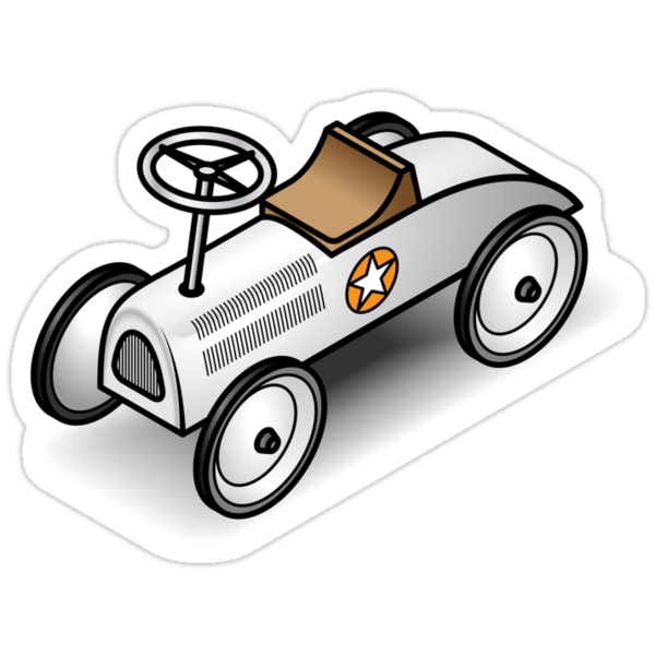 A retro vintage race cart. WIth drop shadow for a white shirt only. by Zern Liew