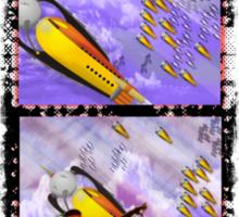 space ship invasion Sticker