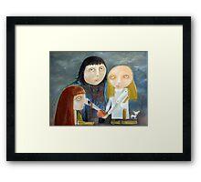 Siblings - Peace Treaty Framed Print