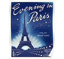 EVENING IN PARIS (vintage illustration) Poster