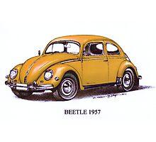 1957 Volkswagon Beetle Photographic Print