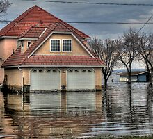 House under water by Erika Price
