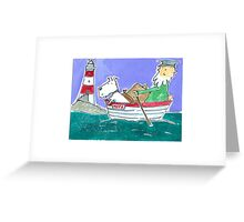 The Lighthouse Keeper Illustration  Greeting Card
