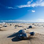 Pebble Shadows  - Winterton, Norfolk by Geoimages