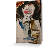 the drinker Greeting Card