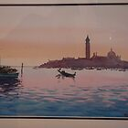 San Giorgio across the Venice lagoon by Hugh Cross
