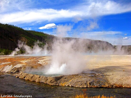Spouting steam by Erika Price