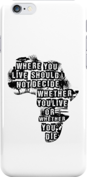 Where You Live - Africa (white) by bradyqk