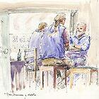 Sailors's pub yarn - Hobart waterfront by Hugh Cross
