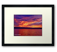 Vibrant evening Framed Print