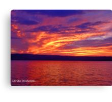Vibrant evening Canvas Print