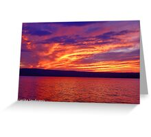 Vibrant evening Greeting Card