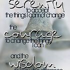 Serenity Prayer with Bells  Vicki Ferrari by Vicki Ferrari