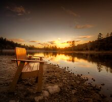Lonely Sunset by Bob Larson