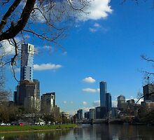 Melbourne from the river by Louise Delahunty