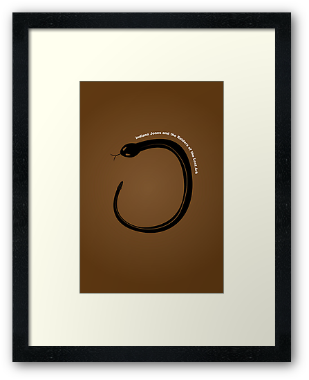 """Raiders of the Lost Ark"" Minimalist Poster by Rechenmacher"