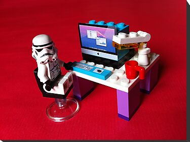 Stormtrooper is checking some statistics on his iMac by jonasscorpio