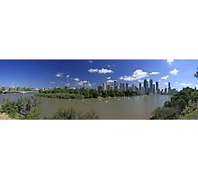 Brisbane Panorama With Abseiler Photographic Print