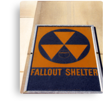 """Washington D.C. - Fallout Shelter"" Canvas Print"