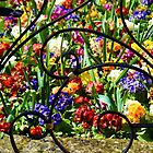 Inside The Garden Gates At Lyme Dorset by lynn carter