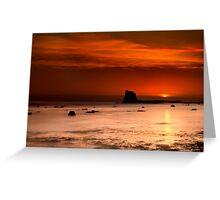 Saltwick Bay Sunrise Greeting Card