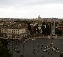 """The Piazza Di Popolo over Rome"" by mls0606"