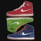 AIR JORDANS 1 RETRO FITTED: RED|GREEN|BLUE by SOL  SKETCHES™
