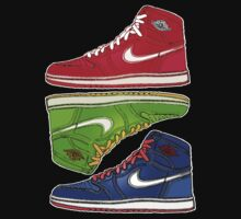 AIR JORDANS 1 RETRO FITTED: RED|GREEN|BLUE by S DOT SLAUGHTER