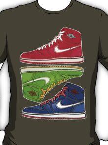 AIR JORDANS 1 RETRO FITTED: RED|GREEN|BLUE T-Shirt