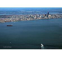 Seattle On The Horizon Photographic Print