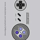 Snes Controller/Gamepad model#2 by Guilherme Bermo