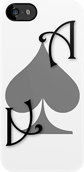 Ace of Spades card - Black by Guilherme Bermêo