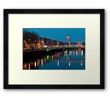Dublin at night Framed Print