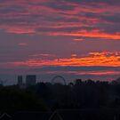 The new York skyline at sunrise, England by GrahamCSmith
