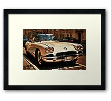 Corvette Chevrolet sketched Framed Print