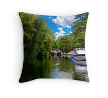 bishop's bridge and a boat Throw Pillow