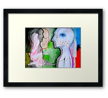 the hidden language Framed Print