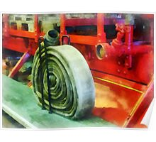 Coiled Hose on Fire Truck Poster