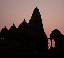 Khajuraho Sunset by phil decocco