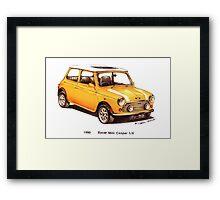 1990 Rover Mini Cooper Car Framed Print
