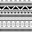 Black & White Aztec Pattern by gameriot