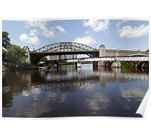Boston University Bridge and Grand Junction Railroad Bridge  Poster